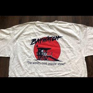 Vtg Baywatch T Shirt XL 1990s USA TV SHOW gray